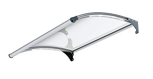 Primaster Glasvordach Marseille 150x100 cm Beleuchtung Bewegungssensor Vordach