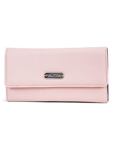 Nautica Money Manager RFID Women's Wallet Clutch Organizer (Petal PInk)