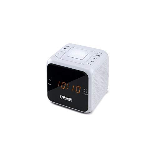 RAD/REL DAEWOO DCR-450 Doble Alarma FM Blanco
