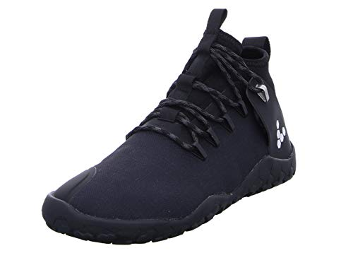 Vivobarefoot Magna Trail, Womens Vegan Multi-Terrain Hiking Shoe with Barefoot Sole & Thermal Protection Black Gum 9 M