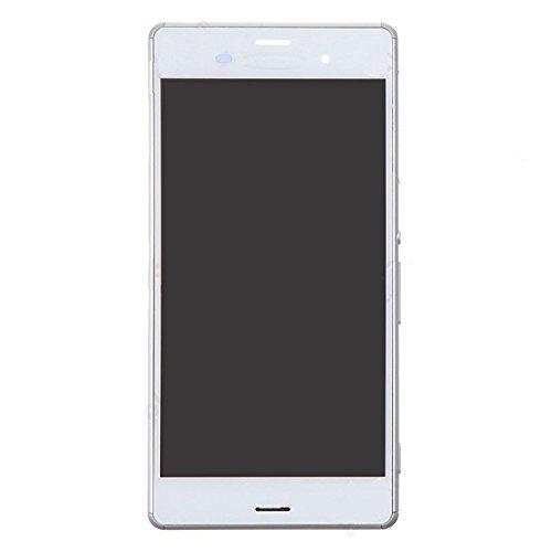 Reemplazo extraíble IPartsBuy LCD + pantalla táctil digitalizador Asamblea con marco for Sony Xperia Z3 / D6603 / D6643 / D6653 (Single Version SIM) Accesorio (Color : White)