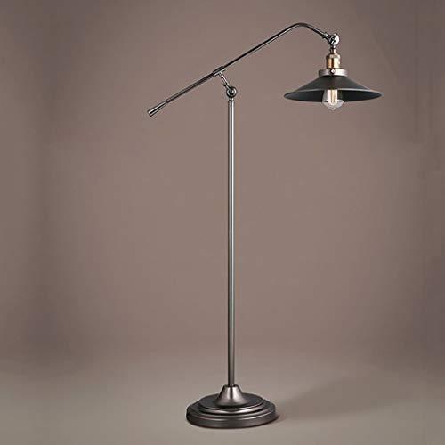 Indische LoftWohnzimmerschlafzimmer-Buch-Bodenlampe des industriellen Windes Retro- Wasserleitung Standleuchten (Farbe : Schwarz)