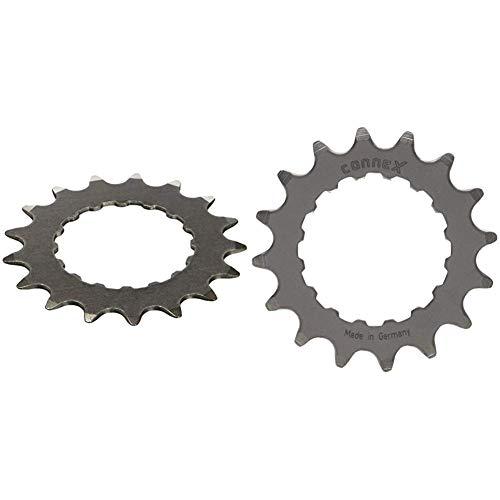 Connex E-Bike Ritzel für Bosch Antrieb 17 Zähne Kettenblätter, Silber, One Size & E-Bike Ritzel für Bosch Antrieb 16 Zähne Kettenblätter, Silber, One Size