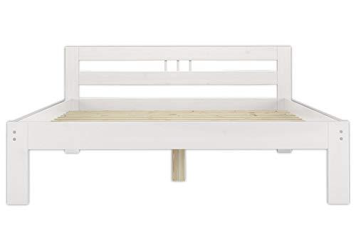 Erst-Holz® Massivholzbett weiß Kiefer Jugendbett 120x200 Einzelbett Futonbett mit Rollrost 60.64-12 W