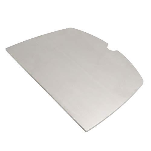 MaTaDa Edelstahl Grillplatte massiv I BBQ Plancha - passend für Weber Q100 I Q120 I Q140 I Q1000 I Q1200 I Q1400