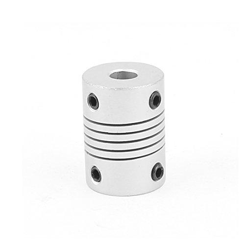 sourcing map 6mm a 6 mm Aleación De Aluminio Encode Haz Acoplamiento BRICOLAJE Eje Del Motor Adaptador