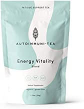 AIP Diet Herbal Tea - Fatigue Fighting, Autoimmune Protocol, Whole 30, Paleo friendly - 100% Organic Loose Leaf Herbs, All Natural Drink with Green Tea, Women-Owned