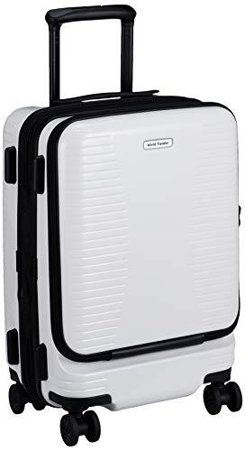 [ワールドトラベラー] スーツケース プリマス エキスパンダブル キャスターストッパー付 機内持ち込み可 35L 3.7kg ホワイト