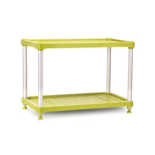 MyYztsj-kitchen rack Supports de Four à Micro-Ondes de Cuisine réglables Space Vert en Aluminium à 2 Niveaux Fournitures de Cuisine Étagère de Rangement Support à épices