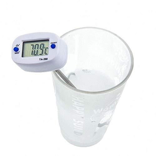 Tekanxc Terminomètre Numérique Forme Instantanée Lecture instantanée Poche Huile De Lait Café Eau Test De Cuisine Cuisine Thermomètre Numérique 2 Pcs