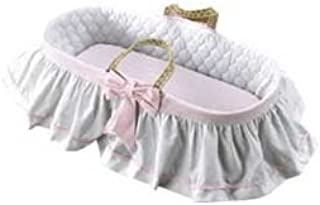 Baby Doll Bedding Regal Moses Basket, Pink