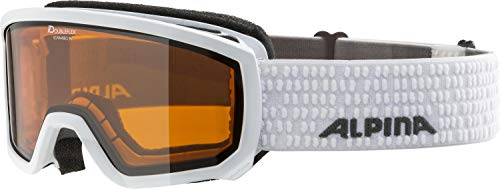 ALPINA SCARABEO JR. Skibrille, Kinder, white, one size