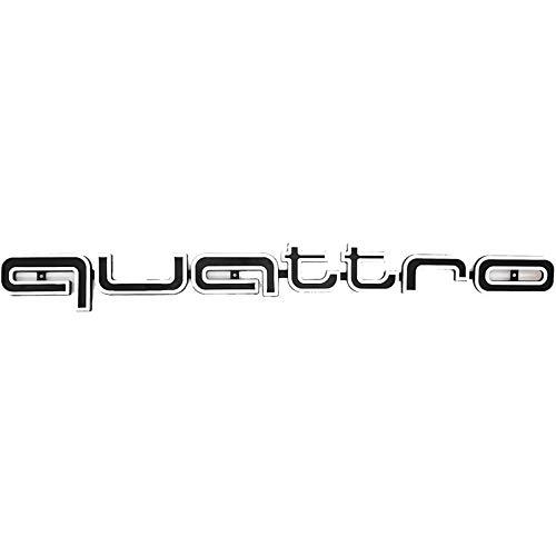 LODYPERO Quattro Emblem RS Style Badge Grill para Audi Front Logo Calcomanía