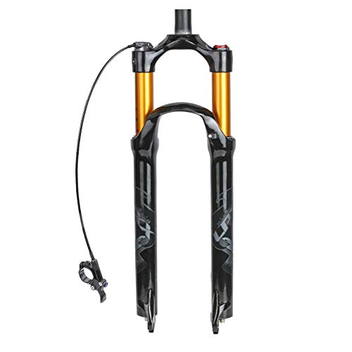 """Suspensión de bicicletas Aire Tenedor for MTB 26 """"/27.5"""" / 29"""" delantera Horquilla 120mm Stroke tubo recto de aleación de aluminio de bicicletas Amortiguador manual / a distancia del tubo de bloqueo N"""