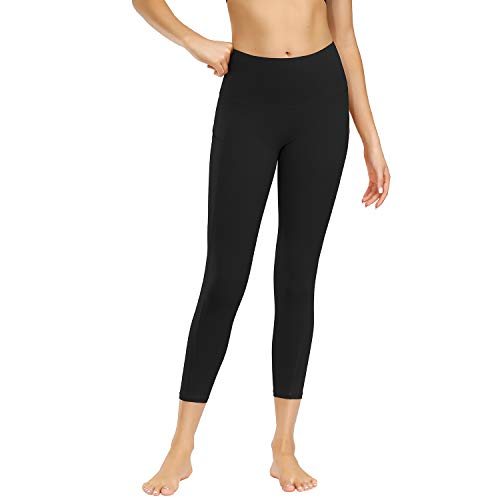 Damen Yoga Pants Hosen Damen Yogahose Sporthose Damen Lange Laufleggins High Waist Sport Leggings Stretchhose Mit Taschen(jcjf.schwarz,M)