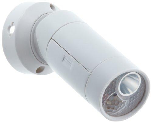 GEV 000377 LED spotlight LLL377 120 graden bewegingsmelder op batterijen, inclusief wandhouder voor binnen en buiten, wit