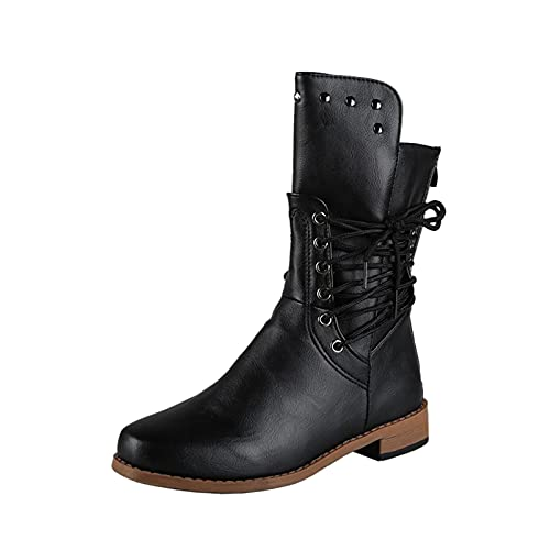 Boots Femme Cuir Noir Bottine Femmes Compensé Couleur...