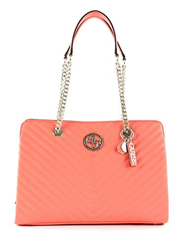 Guess Blakely Large Girlfriend Satchel Coral