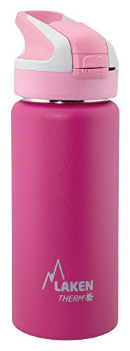 Laken Unisex - Termo para adultos con cierre de Summit, 0,5 L, color rosa, tamaño 0,5, 7.3 x 7.3 x 22centimeters