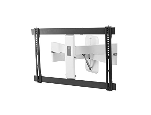 """One For All Flux TV Bracket – Screen Size 32-84""""- Unique Gas Spring Feature - 120° Turn and 15° Tilt Adjustment – High end Wall Mount - Max Weight 30kg - Ultra Slim Line – WM6681"""