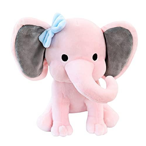 Fuaensm Juguete de peluche de elefante para bebé, juguete de peluche, almohada suave y calmante, decoración de habitación, juguetes para bebés, niños, niñas, rosa,