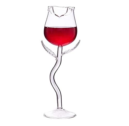 Copas de vino tinto de cristal transparente rosa para cócteles, copas de champán personalizadas, regalo para fiesta de cumpleaños, boda, aniversario (una pieza)