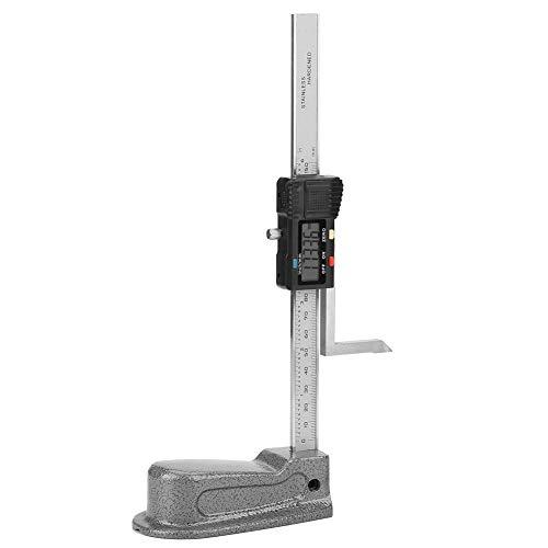 Zunate Digitales Höhenmessgerät,0-150mm Digital Precision Height Aperture Tiefenmesser mit Edelstahlfuß