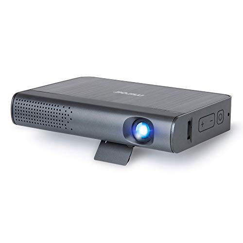 Miroir M289 Portable LED Projector   Native 1080p Resolution (1920 x 1080p)   Rechargeable Battery   HDMI   USB – C Charge/Video (Renewed)