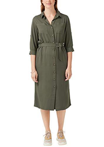 TRIANGLE Damen Hemdblusenkleid mit Turn Ups Olive Disguise 46