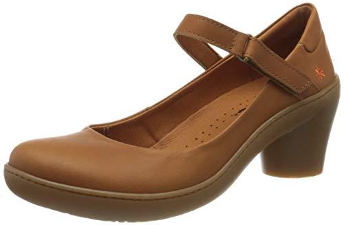 Art Alfama, Zapatos de tacón con Punta Cerrada Mujer, Marrón (Cuero/Nectar), 38 EU