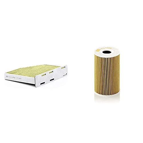 Original MANN-FILTER Innenraumfilter FP 2939 – FreciousPlus Biofunktionaler Pollenfilter – Für PKW & Ölfilter HU 7008 Z – Ölfilter Satz mit Dichtung / Dichtungssatz – Für PKW