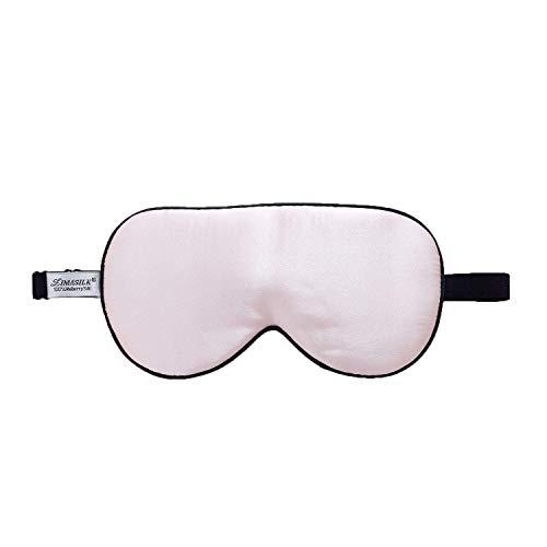 ZIMASILK 100{ebd97fe33303607e7a1d71c8779f183ac5cd69245e6bcf1f9af38a2863c822c8} Seide Schlafbrille leicht - verstellbare Augenbinde für Reise und Zuhause Schlafen - Reine Maulbeerseide Atmungsaktiv Augenmaske mit Samtbeutel (Rosa)