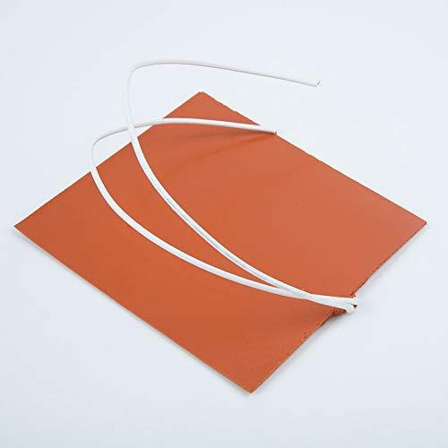NoLOGO L-TAO-Pulley, 1pc Silikon-Heizung Pad for Drucker Beheizbare Bett Heizmatte 12V 12W 100x120mm Elektro-Silikon-Gummi-Heizkissen