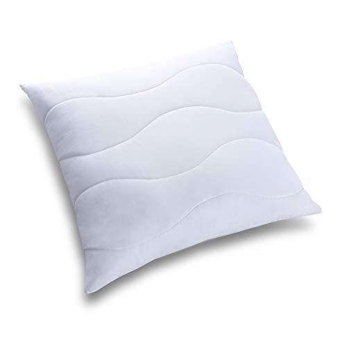 Allergiker Kopfkissen Kinder und Erwachsene aus Mikrofaser. Bequemes Kissen Bauchschläfer. EIN bequemes Weiß Schlafkissen aus flauschigem Stoff. Viele Größen. (30x30)