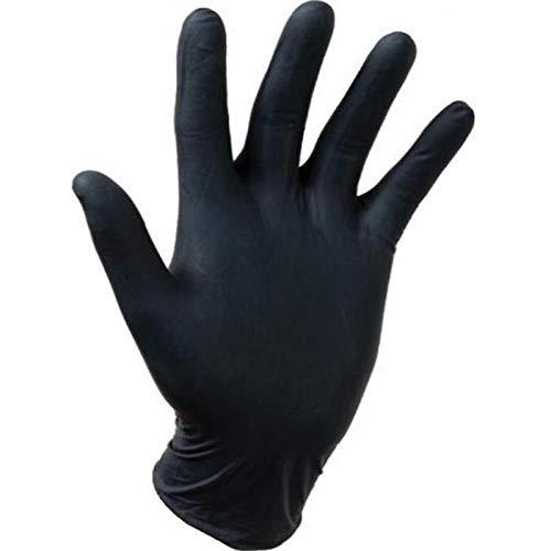 Gentle Touch 0647 Guante Desechable de Nitrilo, Talla XL, Negro