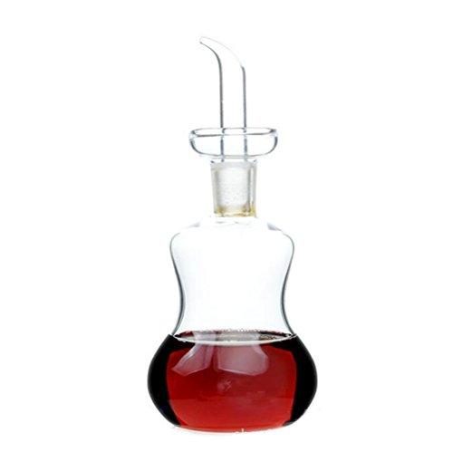 ELETON Gourde Créative Verre Oliver huile Bouteille réservoir pour le vinaigre / Soy Sauce Dispenser (150 ml)