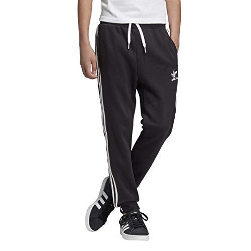 adidas Originals unisex-youth 3-Stripes Pants Black/White Medium