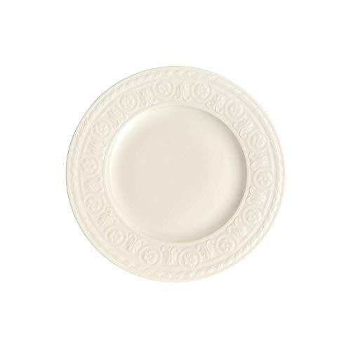 Villeroy & Boch Cellini Assiette petit-déjeuner, 22 cm, Porcelaine Premium, Blanc