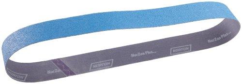 Norton BlueFire R821P Benchstand Abrasive Belt, Cotton Backing, Zirconia Alumina, 2-1/2