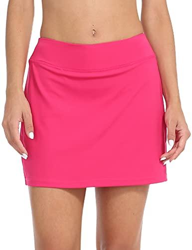ZEALOTPOWER Tennis Skorts for Women with Pockets Sports Black Golf Skirts Running Athletic Summer