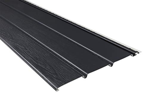 Kunststoffpaneele | anthrazit | Dachkasten | umweltresistent | Unterdach | PVC | außen | Verkleidung | Soffit | 10 x 30 cm Muster