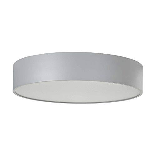 LED Lámpara de techo 'Vikato' (Moderno) en Gris hecho de Metal e.o. para Salón & Comedor (1 llama, A+) de Arcchio | lámpara LED, plafón LED, lámpara de techo