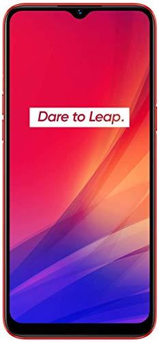 "Realme C3 - Smartphone de 6.5"" LCD multi-touch, 2 GB RAM + 32 GB ROM, Procesador Helio G70 OctaCore, Batería de 5000mAh, Cámara Dual AI 12MP, Dual Sim, rojo"