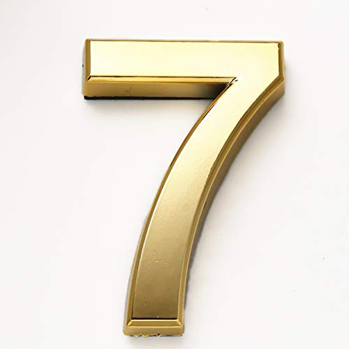 2 Inch Self Adhesive Door Numbers 7, House Address Number Stickers for Mailbox/Apartment/Office Room, by Hopewan. (2
