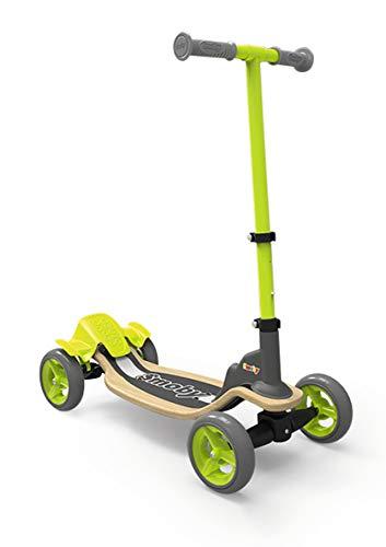 Smoby 7600750700 Wooden Fun Scooter, 4 Räder, Grün/Schwarz