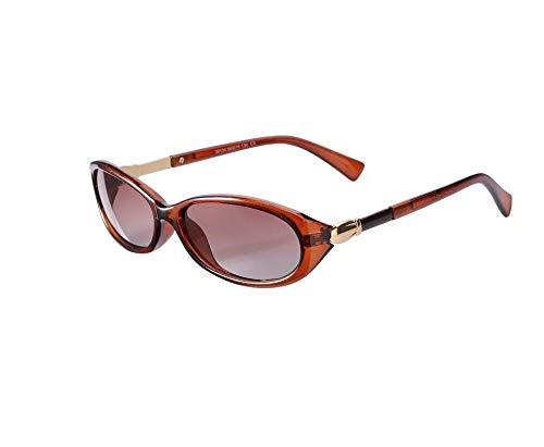 HongTeng Gafas de Sol Señoras Elegante Marco pequeño Retro Polarizado Espejo de conducción Tendencia Multicolor Opcional (Color : Tea Frame)