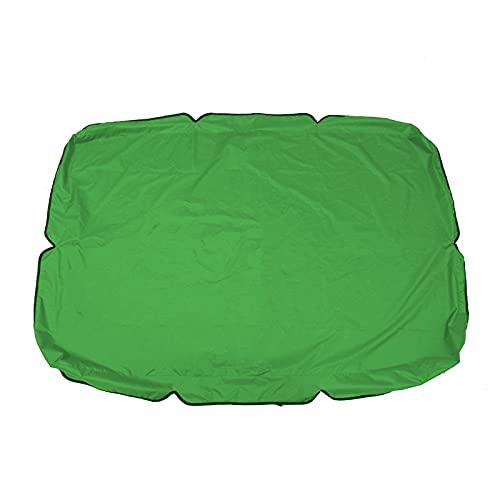 Toldo De Repuesto Extra Grande para La Cubierta Superior del Asiento De La Silla Columpio, para Patio Cubierta Superior para Jardín Al Aire Libre,Verde,142 * 120 * 18cm