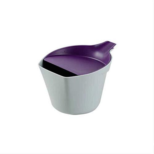 WNN-URG Bote de Basura, Basura Modern Plastic Mini Papel de desecho Pueden, con Tapa, Peel, cosmética Esponja, Toalla de Papel de colector URG (Color : Purple)