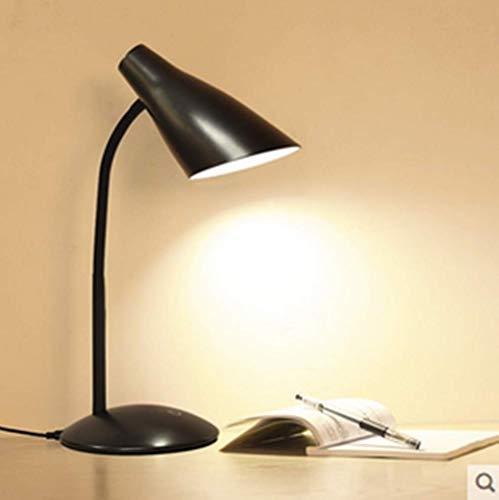 Oplaadbare kleine lamp oogbescherming studie bureau studie college slaapzaal creatieve slaapkamer nachtkastje (zwart)