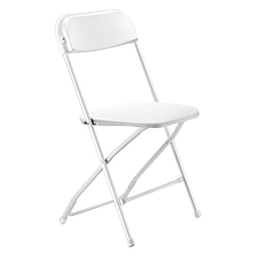 Kealive Folding Chairs 10 Pack 650 lbs Capacity Premium Plastic Folding Chairs Wedding Party Outdoor Indoor Office Ceremony Meeting House Gathering Dinner, White